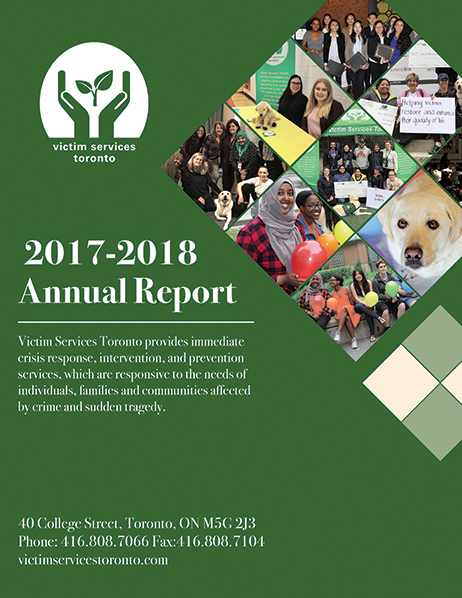 Victim Services Toronto Annual Report 2017-2018