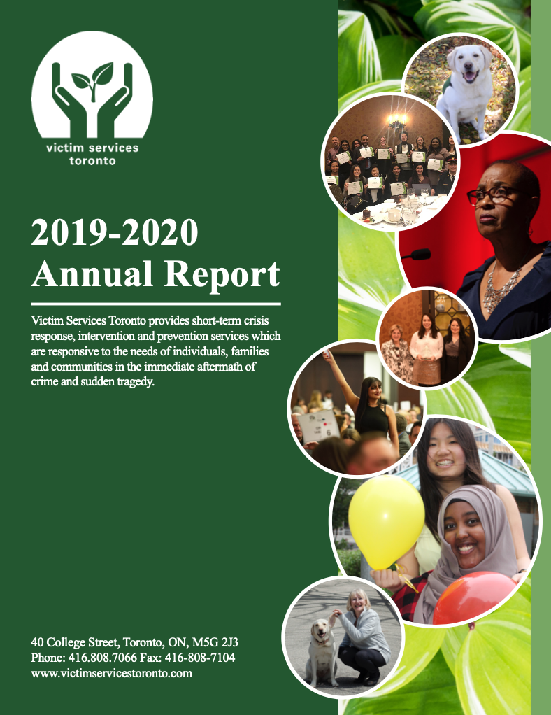 Victim Services Toronto Annual Report 2019-2020